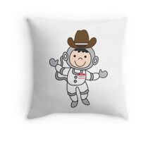 Joey's imaginary friends maurice the space cowboy Throw Pillow