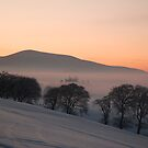sunset over tinto hill by Mitch  McFarlane