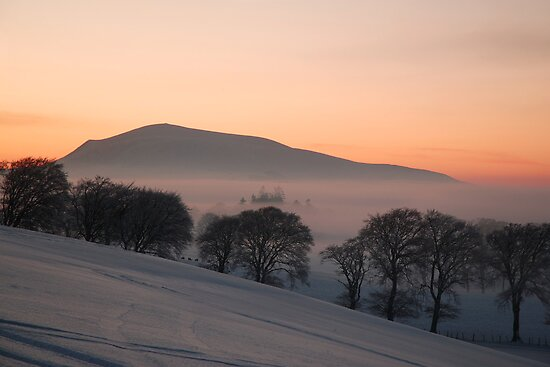 sunset over tinto hill by Mitch ( Michelle) McFarlane