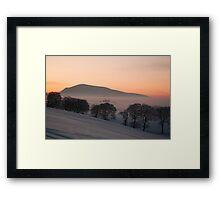 sunset over tinto hill Framed Print