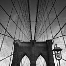 Brooklyn Bridge B&W by thomasrichter