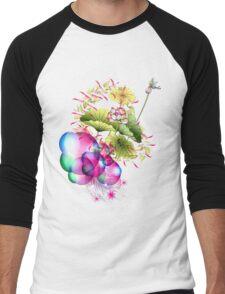 Bubble Garden Men's Baseball ¾ T-Shirt