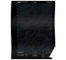 USGS Topo Map Oregon Oak Creek Valley 20110902 TM Inverted Poster