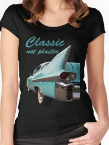 Classic _  not plastic Women's Fitted Scoop T-Shirt