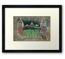 Delgatie Castle Backyard Gate (near Turriff, in Aberdeenshire, Scotland) Framed Print