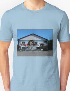Hockey History Don Cherry Building Mural T-Shirt