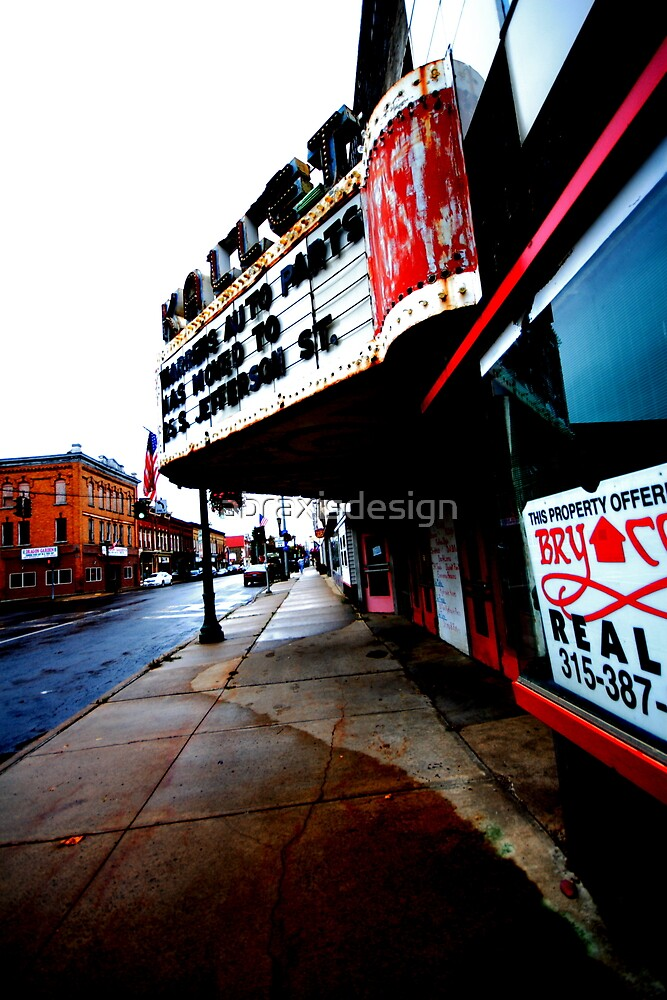 Decaying Movie Theater - Pulaski, NY by abraxisdesign