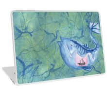 Look I drew a fish Laptop Skin