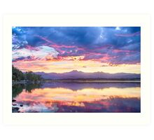 Scenic Colorado Rocky Mountain Sunset View Art Print