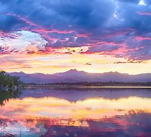 Scenic Colorado Rocky Mountain Sunset View by Bo Insogna