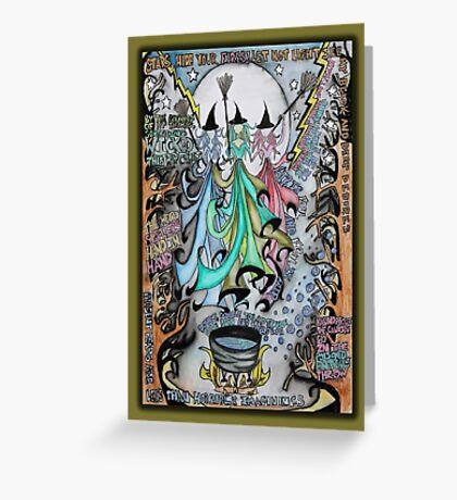 Macbeth Dada Dolls Greeting Card