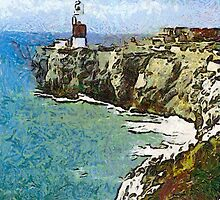 Europa Point Lighthouse, Gibraltar by Dennis Melling