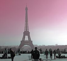 Eiffel Tower (Pink) by azurechina