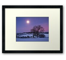 Moon over the Chilterns Framed Print