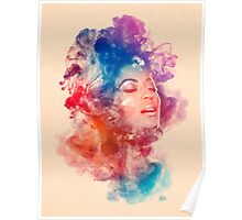 Beyonce Giselle Knowles watercolor Portrait - Beyoncé Poster