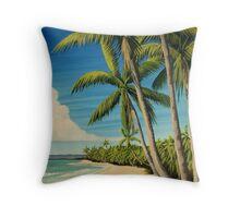 Sandy Beach, Rincon, Puerto Rico Throw Pillow
