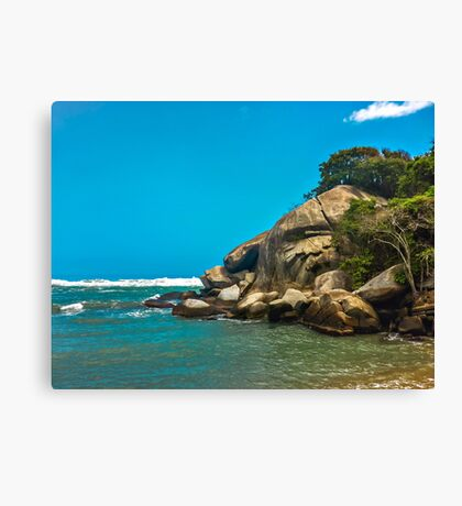 Tropical Beach of Tayrona National Park Canvas Print