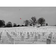 Jefferson Barracks with Flag Photographic Print