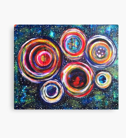 Vibrant Vortex of Choice: Inner Power Painting Canvas Print