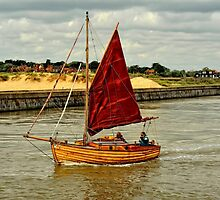 Out for a sail, Southwold, Suffolk by Simon Duckworth