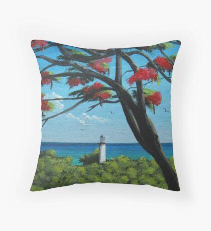 Rincon Lighthouse, Rincon, Puerto Rico Throw Pillow