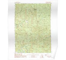 USGS Topo Map Oregon Golden Falls 280043 1990 24000 Poster