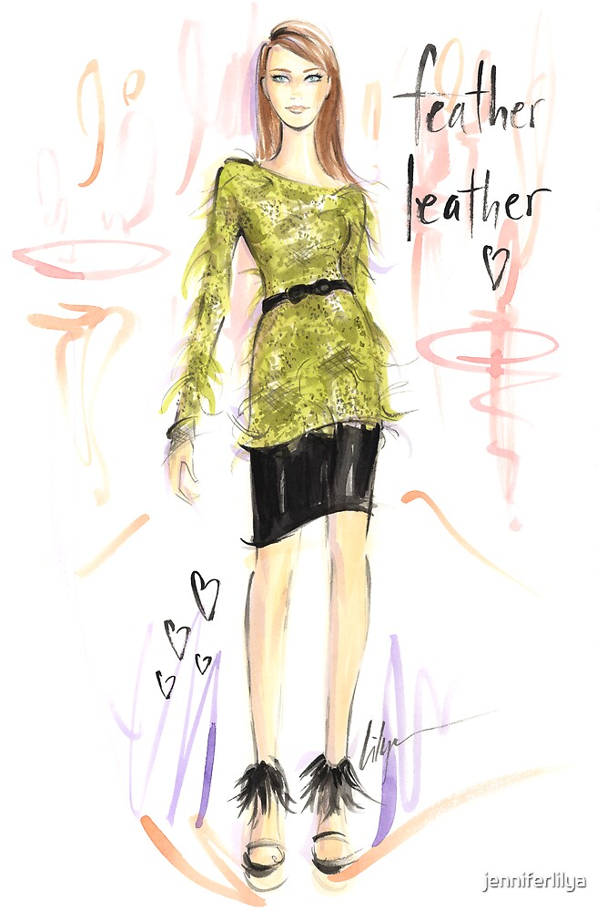 Feather Leather by jenniferlilya