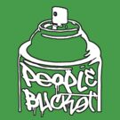 Spray Can PeopleBucket Outline by Steve Lambert