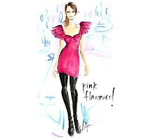 Pink Flamenco! Photographic Print