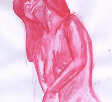 Nude Pink Watercolour by Kyleacharisse