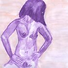 Nude Purple Watercolour by Kyleacharisse