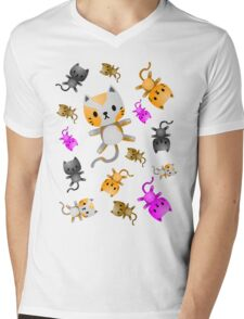 Kitten Juggling - So Many Cats Mens V-Neck T-Shirt