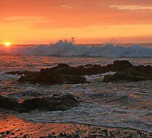 Kua Bay Sunset by Randy Richards
