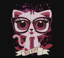 Nice Kitty - Black & PInk Kids Tee
