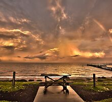 Sitting under A ray of Hope by Rikki  Pool