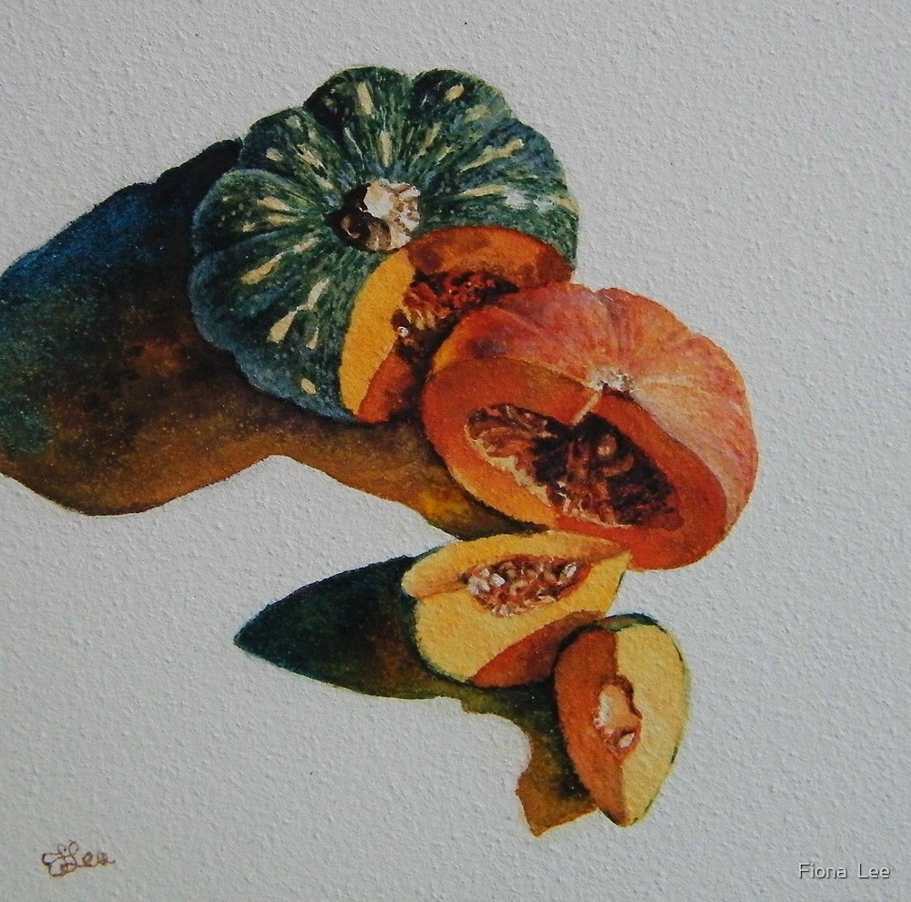 A Pair of Pumpkins by Fiona  Lee