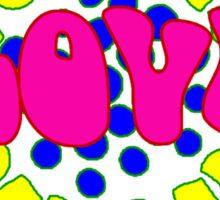 Love, man Sticker