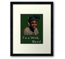 Derrick Comedy, Wink Framed Print