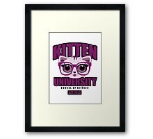 Kitten University - Purple Framed Print