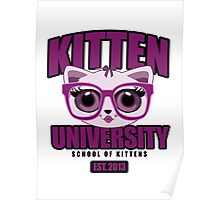 Kitten University - Purple Poster