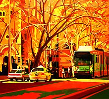 Collins Street Tram Stop by Guntis Jansons