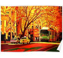 Collins Street Tram Stop Poster