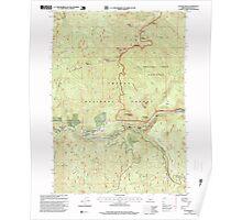USGS Topo Map Oregon Illahee Rock 280279 1997 24000 Poster