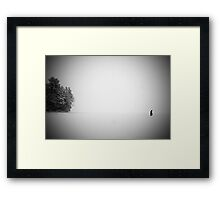 Self Portrait, China Lake, Maine Framed Print