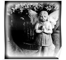 Little Girl Angel Praying Poster