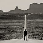 Self Portrait, Monument Valley, Utah by McSquishyface