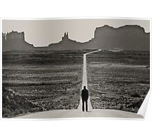 Self Portrait, Monument Valley, Utah Poster