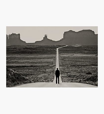 Self Portrait, Monument Valley, Utah Photographic Print