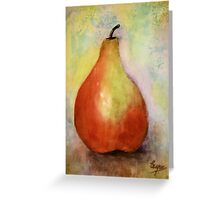 A PEAR- Watercolor painting Greeting Card