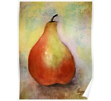 A PEAR- Watercolor painting Poster